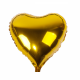 Gold Heart Shape Foil Balloon