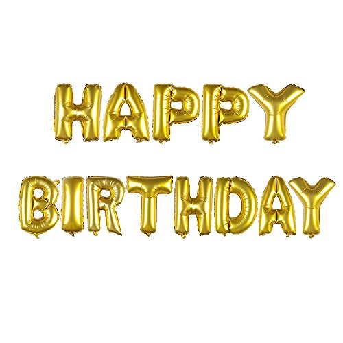 Happy Birthday Gold Foil Balloon
