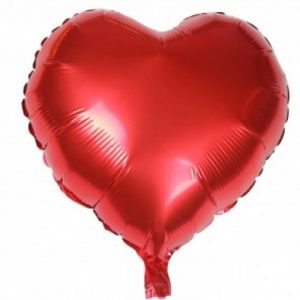 Red Heart Shape Foil Balloon