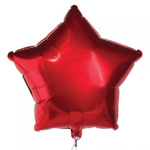 Red Star Foil Balloons