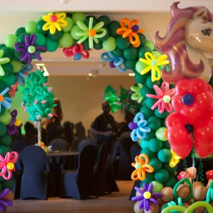 Flower Themed Balloon Decorations