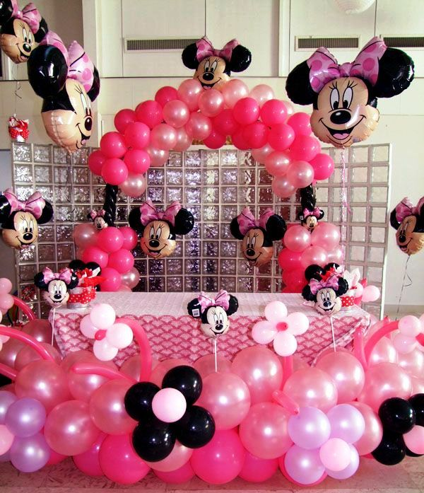 Theme Of Minnie Mouse Birthday Decoration For Kids