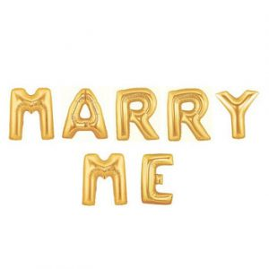 MARRY ME Gold Foil Balloon