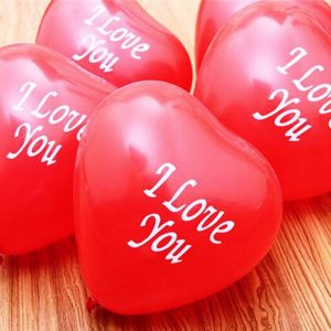 I love you printed balloons