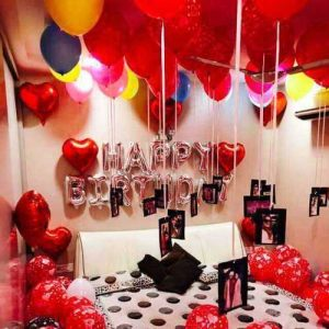 Surprise Birthday Room Decoration