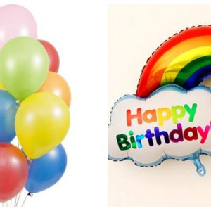 Happy Birthday Rainbow Foil Balloon