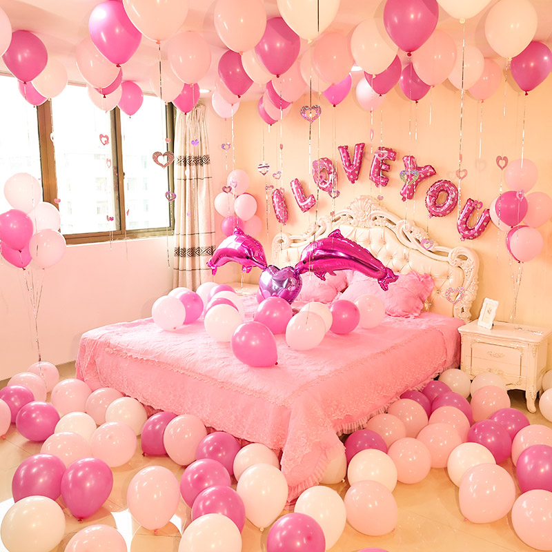 Valentine 39 s day surprise room decoration partyyar - Valentine day room decoration ...