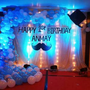Blue Balloon Theme Decoration