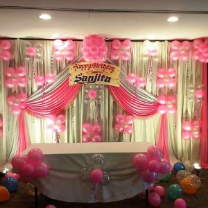 pink balloon theme decoration